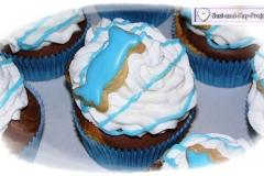 blaue cupcakes