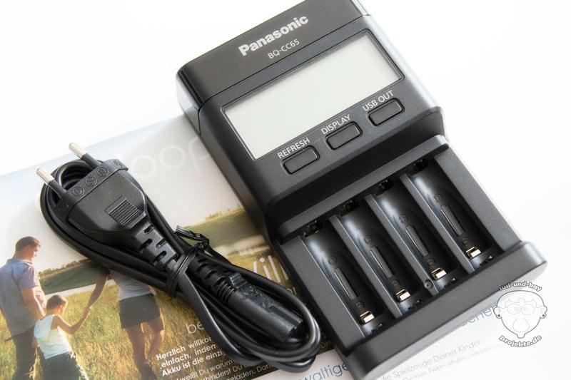 eneloop-Panasonic-Ladegerät-für-Batterie-Akkus