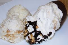 Eiscreme-Erdnussbutter-kugel