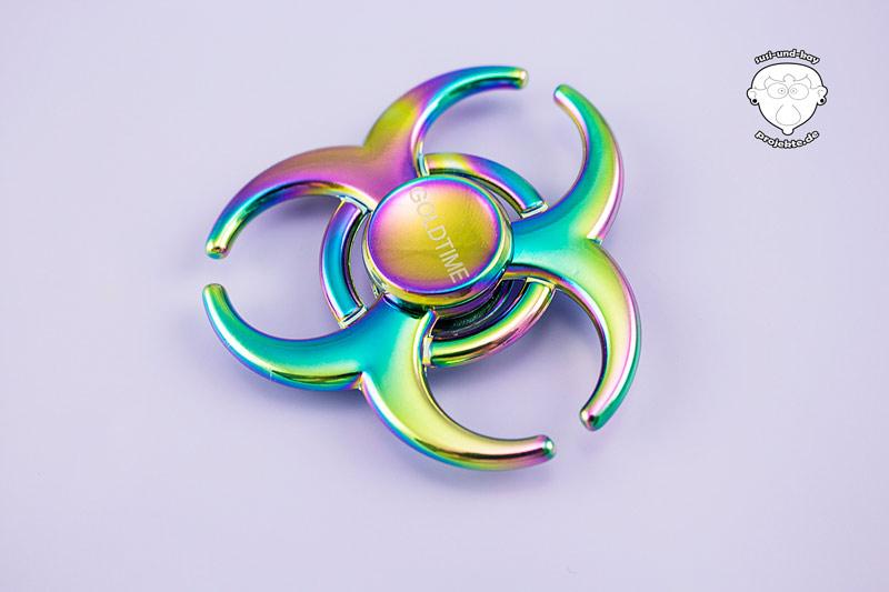 Fidget-Spinner-alluminium-Regenbogen