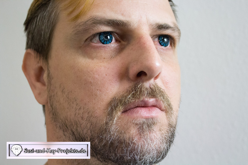 Kontaktlinsen-Blau