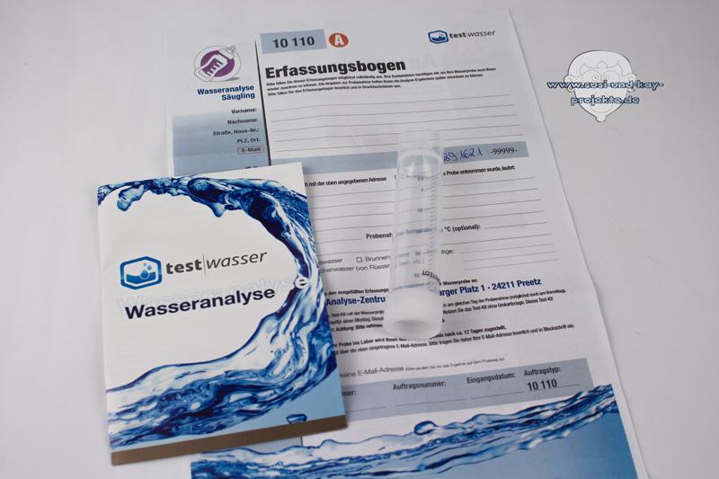 Leitungswasser-Analyse-Test-set