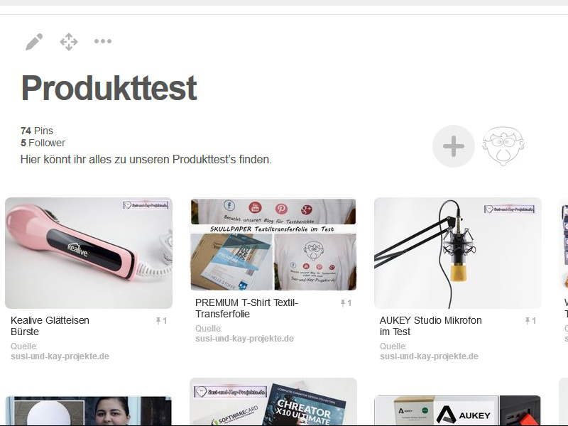 Pinterest-Produkttest