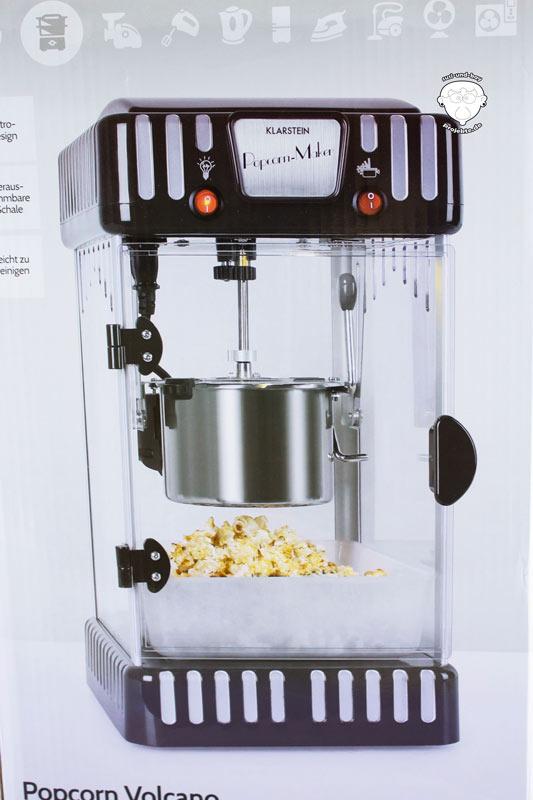 Popcorn-Maschine-Schwarz