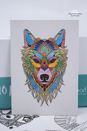 Postkarten-zum-ausmalen-Wolf-Bunt