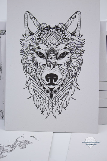 Postkarten-zum-ausmalen-Wolf
