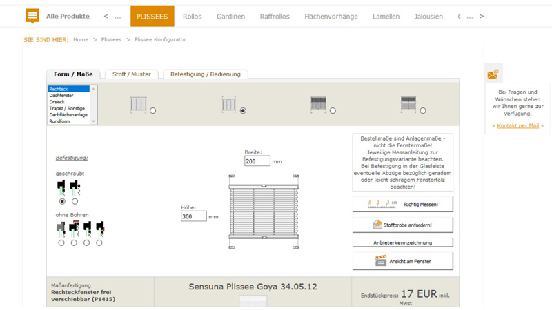 Raumtextilienshop-Screenshot-Konfigurator