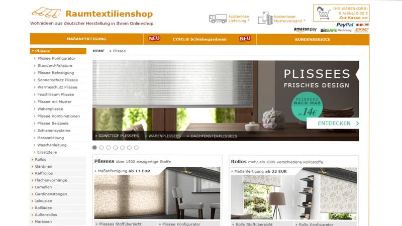 Raumtextilienshop-Screenshot-Startseite