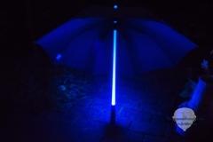 Regenschirm-Blau