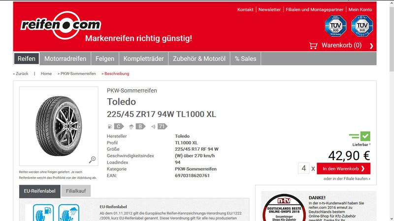 Reifen.com-Sommerreifen-Toledo-Website