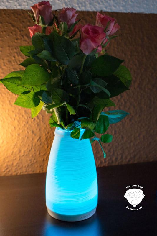 Türkis-leuchtende-Lampe-Fernbedienung