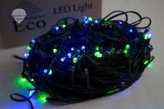 Weihnachten-Lichterkette-Blau
