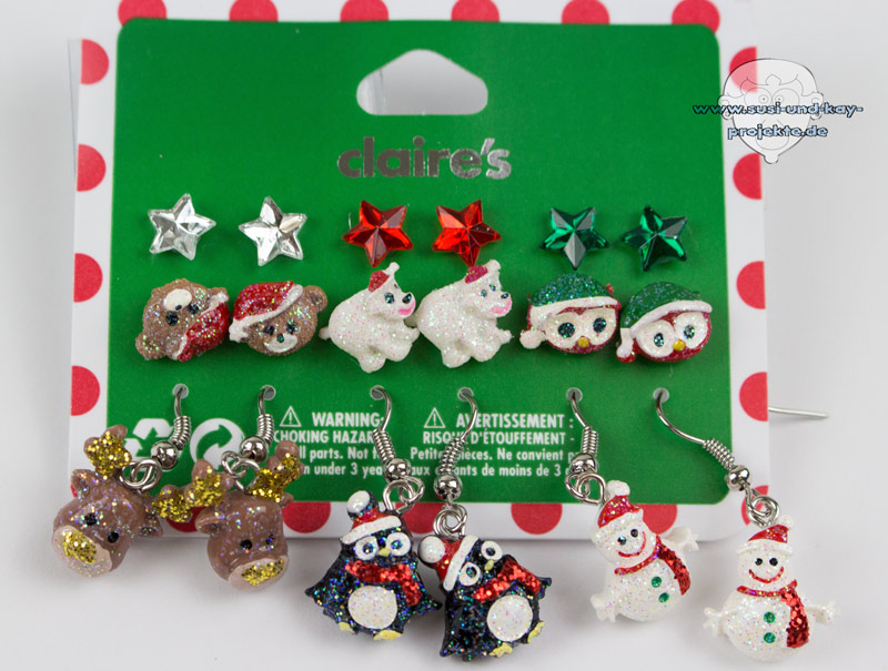 Weihnachtsohrringe-Set
