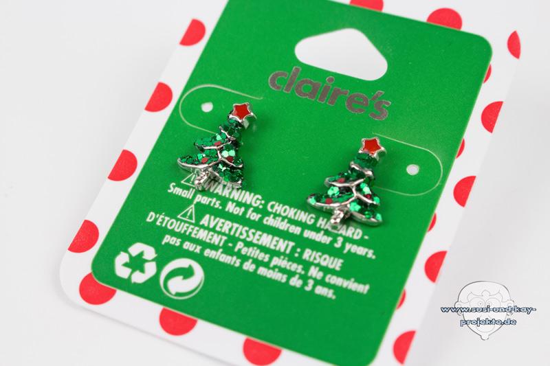 Weihnachtsohrringe-Tannenbaum-Ohrringe