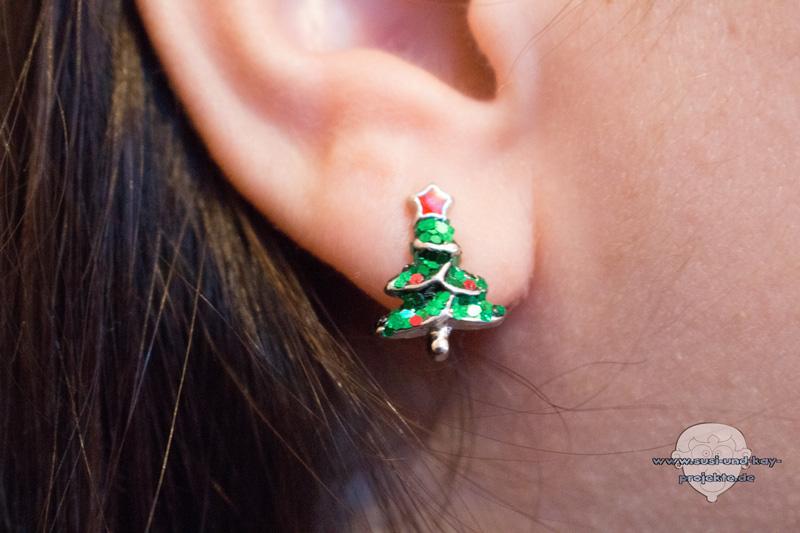 Weihnachtsohrringe-Tannenbaum