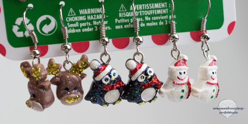 Weihnachtsohrringe-Tiere