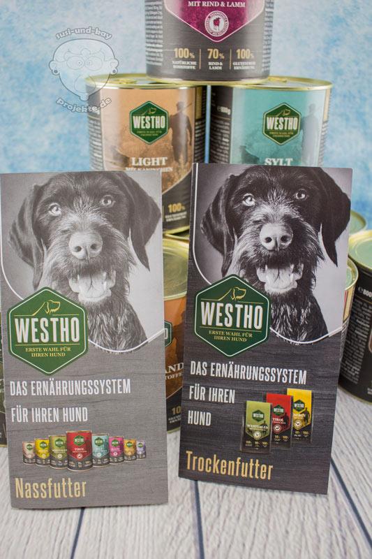 WESTHO-Hundefutter-Broschüren