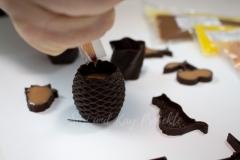 3D-Schokoladenformen-gefüllt