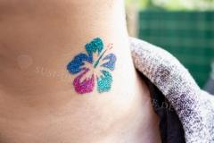 Glitzer-Tattoo-Blume