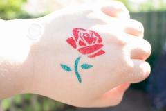 Glitzer-Tattoo-Rose