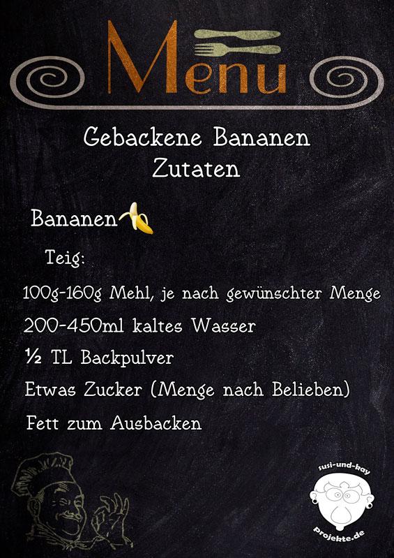 Gebackene-Bananen-Rezept-Zutaten