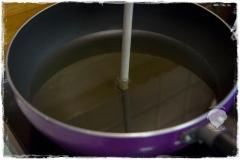 Gebackene-Bananen-Öl-vorheizen