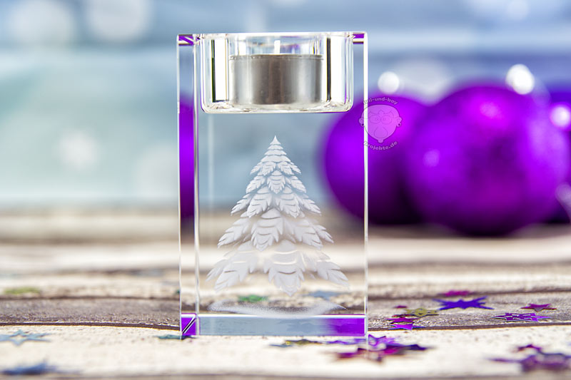 Teelichthalter-für-Weihnachten-Tannenbaum
