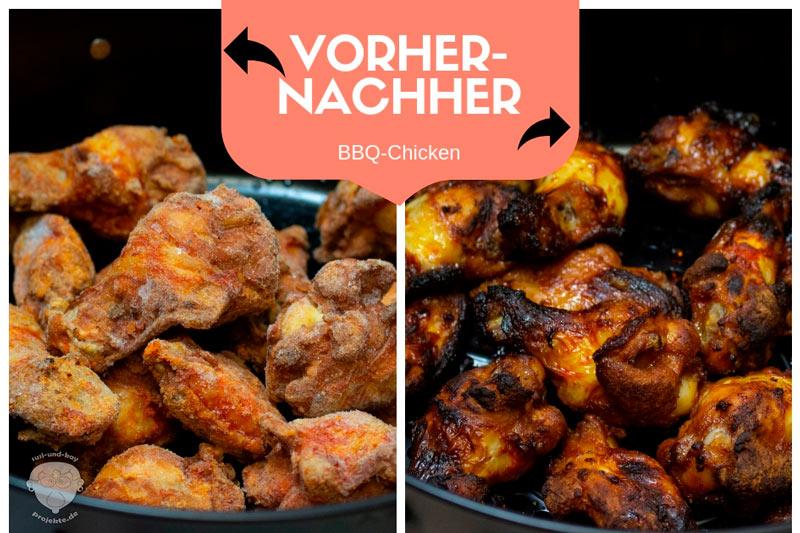 Vorher-Nachher-BBQ-Chicken-Heißluftfritteuse