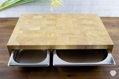 Küchenaccessoires-Schneidebrett-Stirnholz