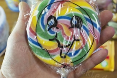 Regenbogen-Spiral-Lolli-süß