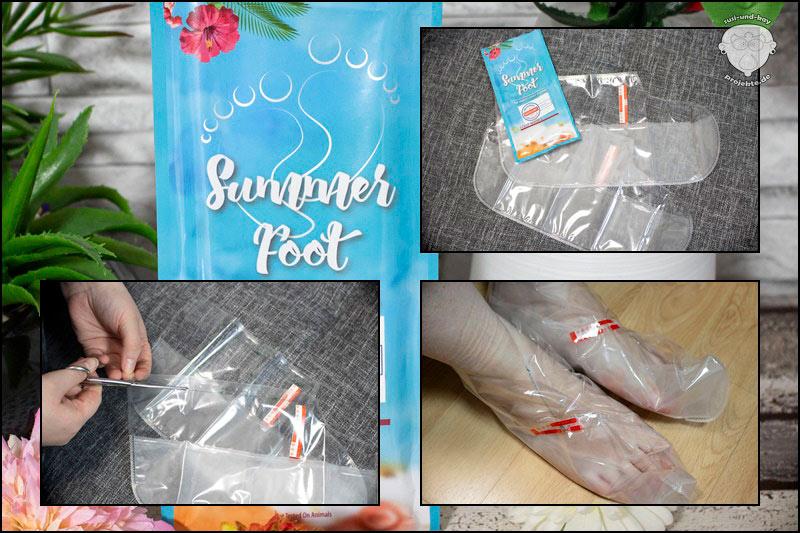 Samtweiche-Füße-Summer-Foot-Anwendung