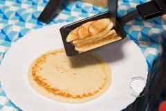 Raclette-Pfannkuchen,-Banane,-Apfel,-Zimt-zucker