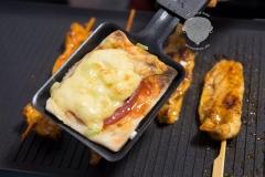 Raclette-Salami-Pizza